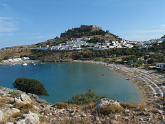 Lindos Rodos Kreikka source:http://www.flickr.com/photos/bazylek/3297143991/